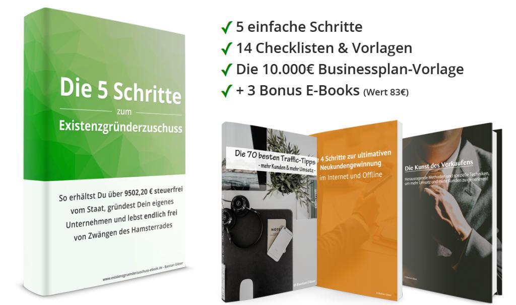 Das Existenzgründerzuschuss E-Book Komplettpaket